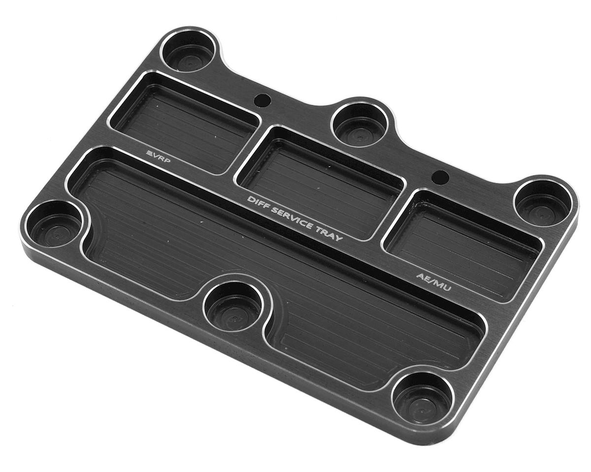 VRP 1/8 Associated/Mugen Aluminum Diff Service Tray (Black)