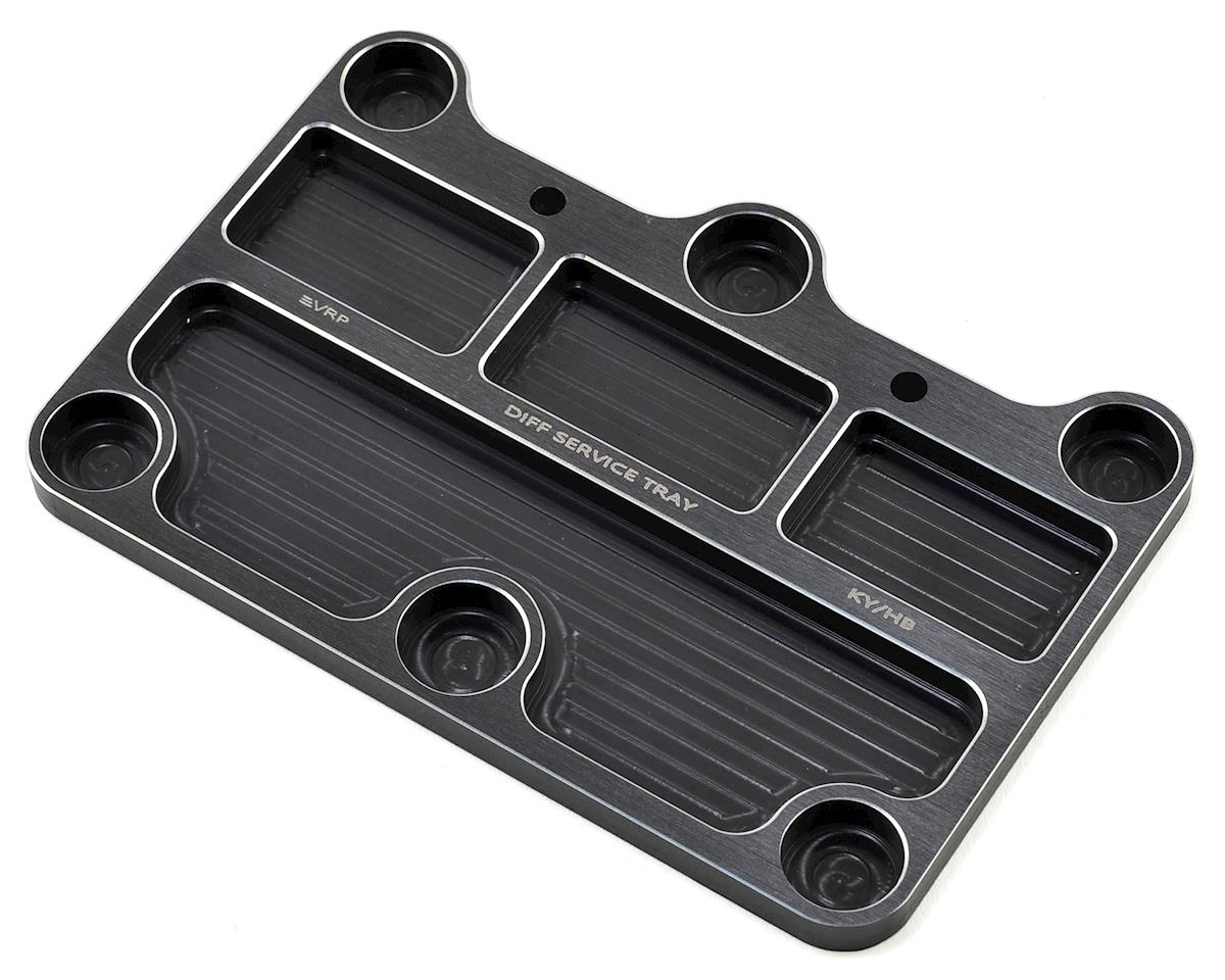 VRP 1/8 Kyosho Inferno MP9 TKI2/Hot Bodies Aluminum Diff Service Tray (Black)