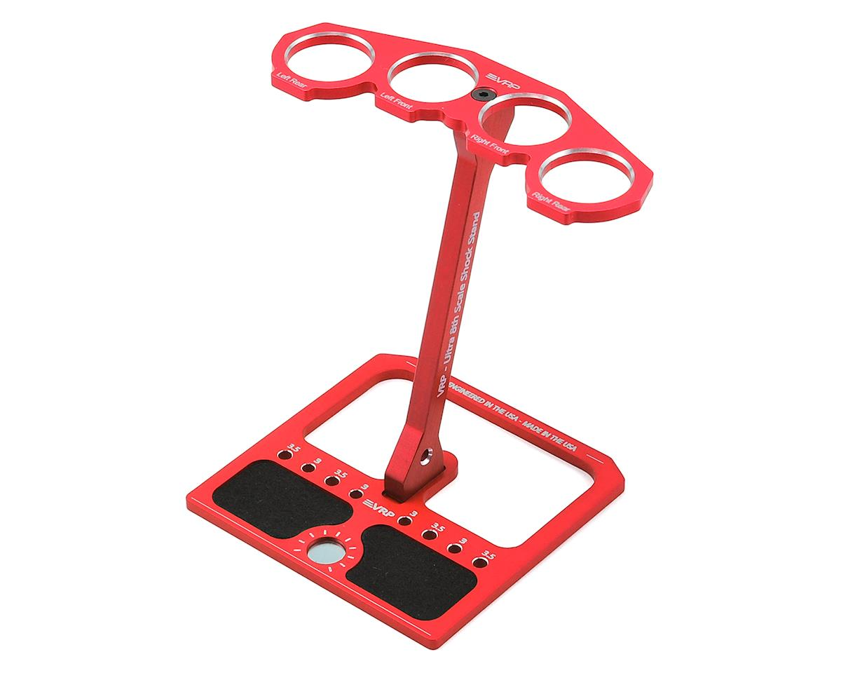 VRP 1/8 Aluminum Ultra Shock Stand w/Parts Tray & Storage Pouch (Red)
