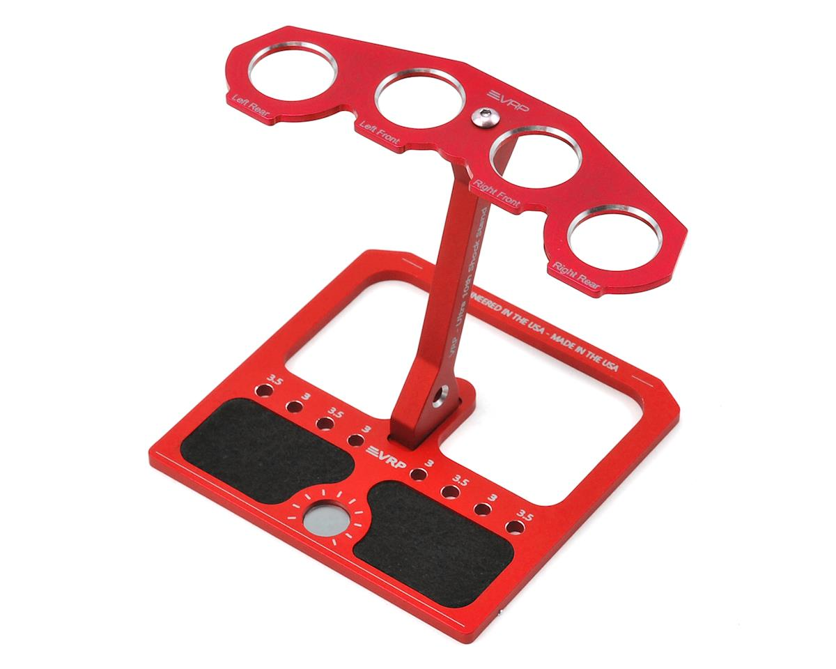 VRP 1/10 Aluminum Ultra Shock Stand w/Parts Tray & Storage Pouch (Red)