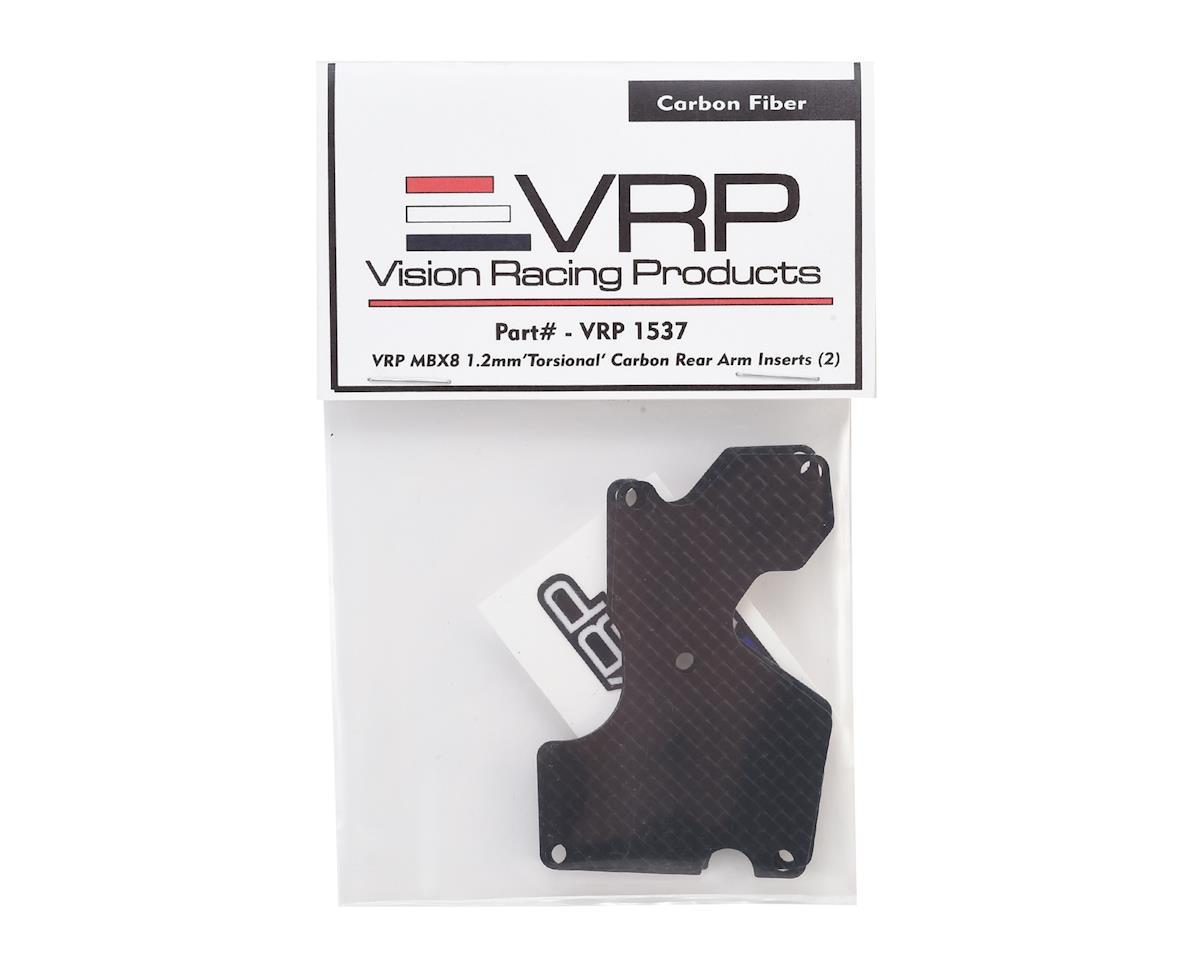 VRP MBX8 1.2mm 'Torsional' Carbon Rear Arm Inserts (2)