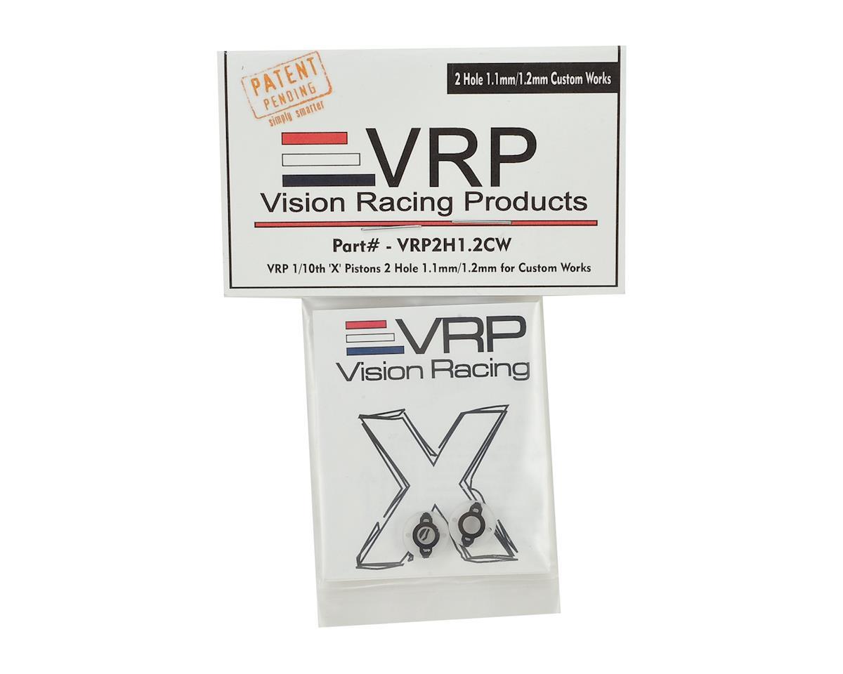 """VRP Custom Works """"X V3"""" Shock Piston (2) (1.1mm/1.2mm x 2 Hole)"""