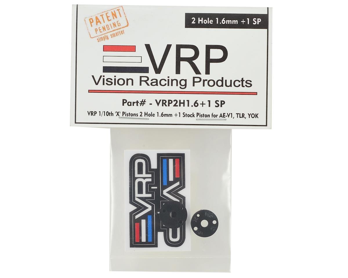 """VRP 12mm AE/TLR/Yokomo 1/10 """"SP V2"""" Shock Piston (2) (1.6mm +1 x 2 Hole)"""