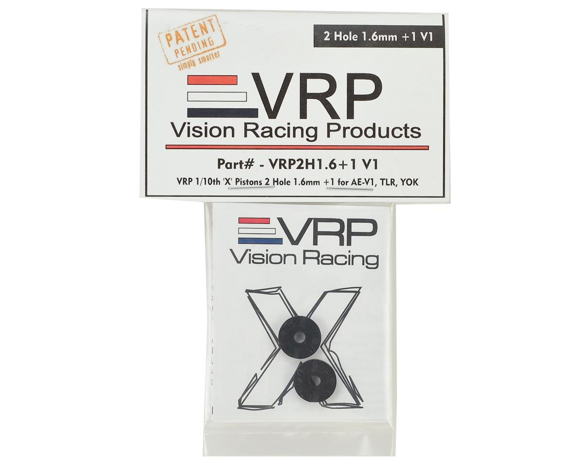 "VRP 12mm AE/TLR/Yokomo 1/10 ""X V2"" Shock Piston (2) (1.6mm +1 x 2 Hole)"