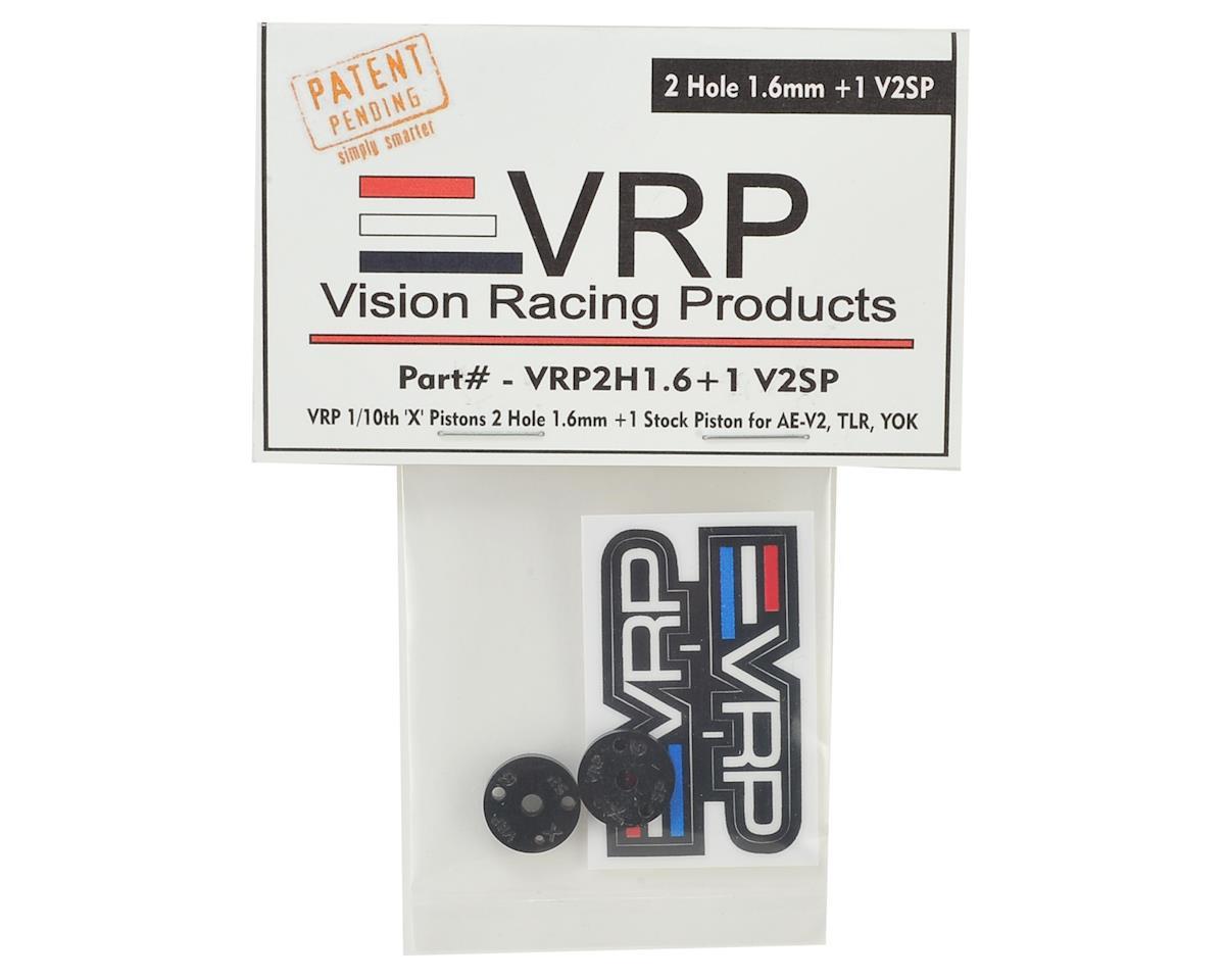 """VRP 12mm Associated V2 1/10 """"SP V2"""" Shock Piston (2) (1.6mm +1 x 2 Hole)"""