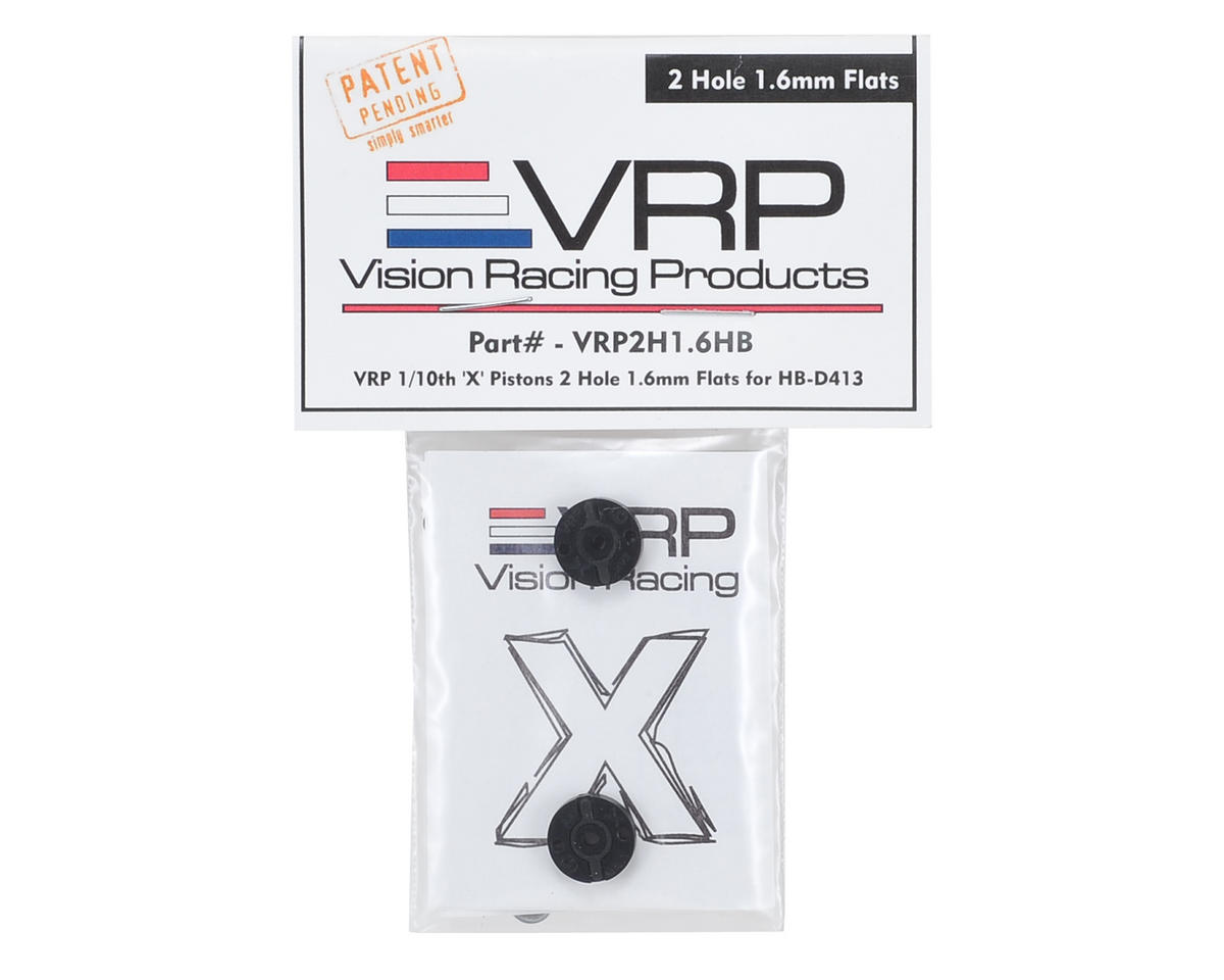"VRP 12mm Hot Bodies D413 1/10 ""X V2"" Shock Piston (2) (1.6mm x 2 Hole)"