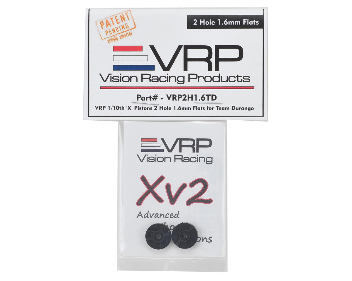 "VRP Team Durango 1/10 ""X V2"" Shock Piston (2) (1.6mm x 2 Hole)"