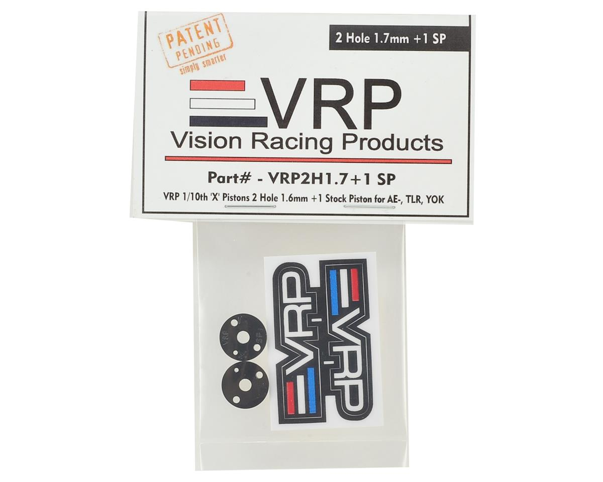 "VRP 12mm AE/TLR/Yokomo 1/10 ""SP V2"" Shock Piston (2) (1.7mm +1 x 2 Hole)"