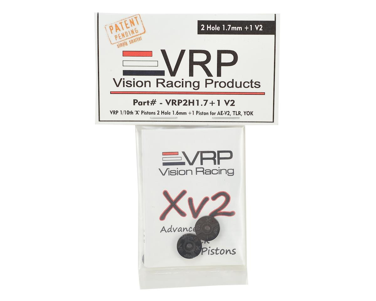 "VRP 12mm AE/TLR/Yokomo 1/10 ""X V2"" Shock Piston (2) (1.7mm +1 x 2 Hole)"