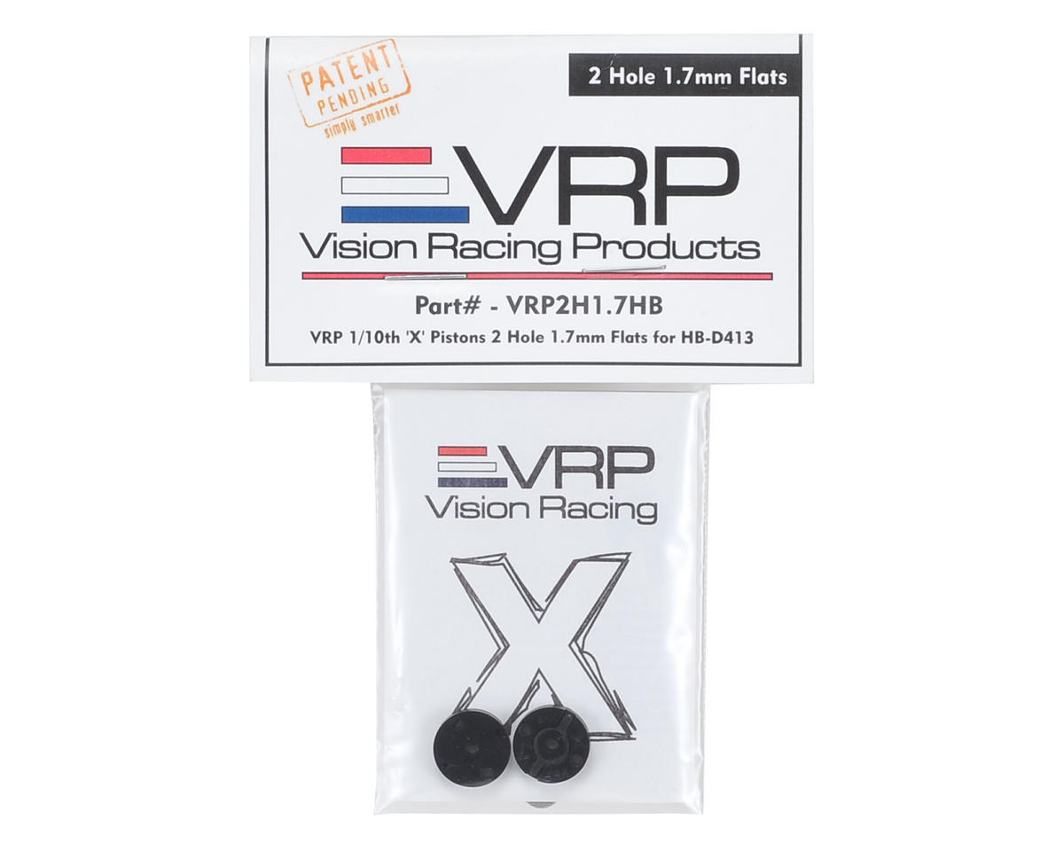 "VRP 12mm Hot Bodies D413 1/10 ""X V2"" Shock Piston (2) (1.7mm x 2 Hole)"