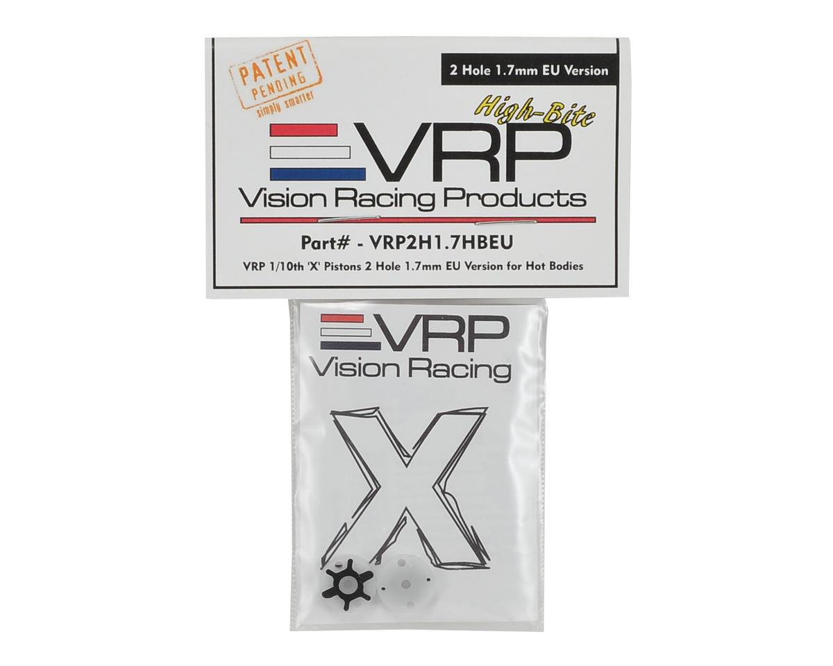 VRP 12mm Hot Bodies D413 1/10 X V2 EU Version Shock Piston (2) (1.7mm x 2 Hole)