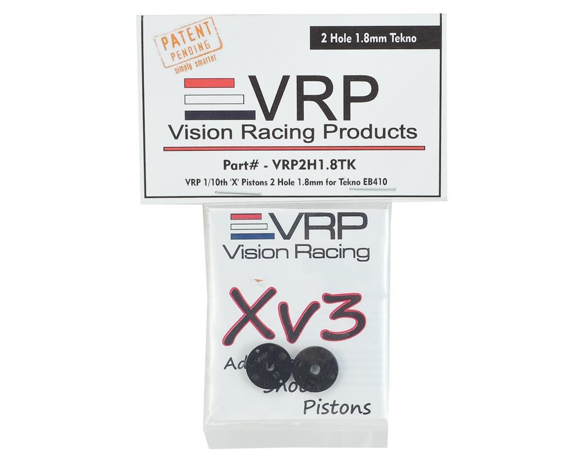 "VRP Tekno EB410 ""X V3"" Shock Piston (2) (1.8mm x 2 Hole)"