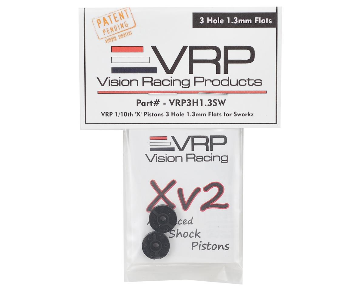 "SWorkz 1/10 ""X V2"" Shock Piston (2) (1.3mm x 3 Hole) by VRP"