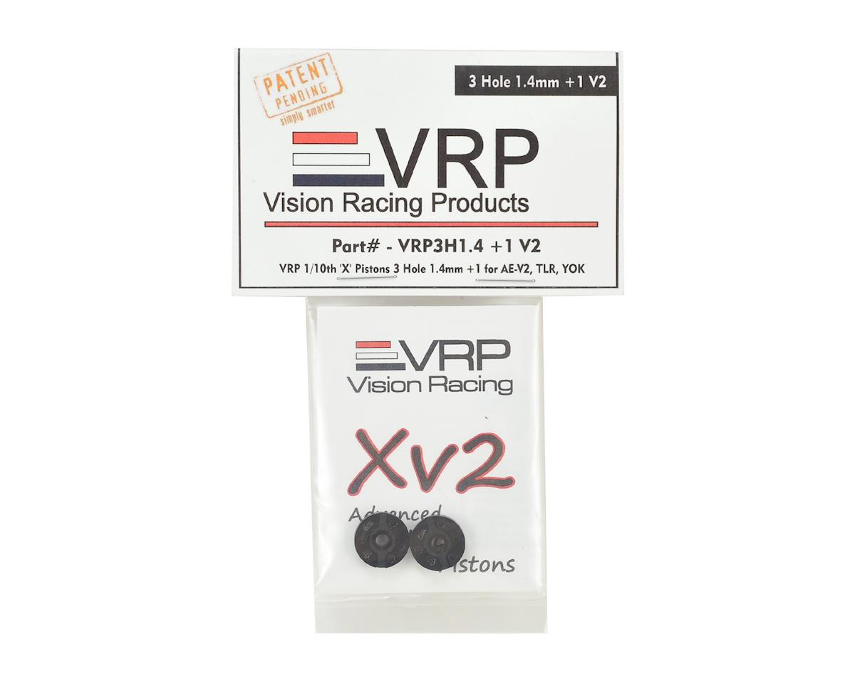 "VRP 12mm AE/TLR/Yokomo 1/10 ""X V2"" Shock Piston (2) (1.4mm +1 x 3 Hole)"