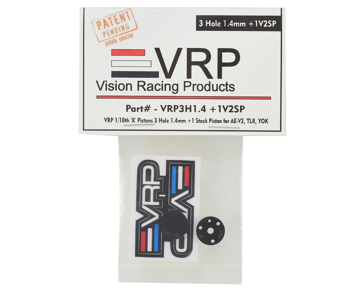 "VRP 12mm Associated V2 1/10 ""SP V2"" Shock Piston (2) (1.4mm +1 x 3 Hole)"
