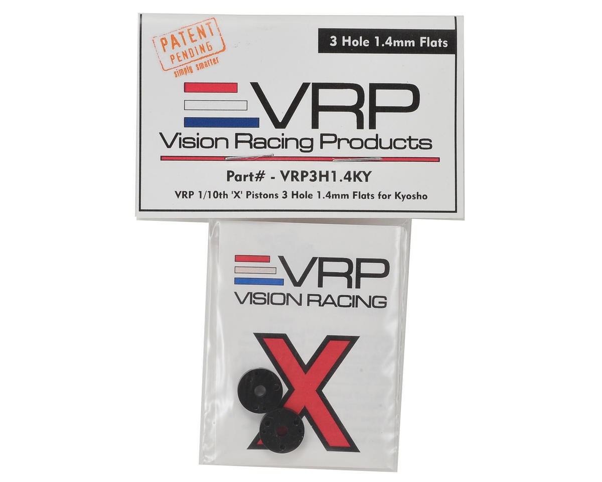"VRP 12mm Kyosho 1/10 ""X V2"" Shock Piston (2) (1.4mm x 3 Hole)"