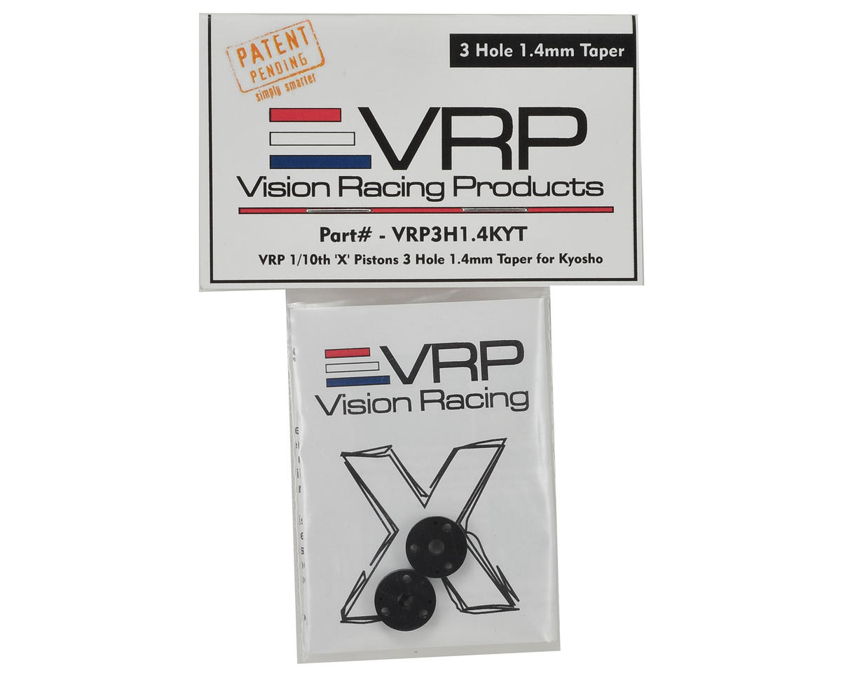 "VRP 12mm Kyosho 1/10 Tapered ""X V2"" Shock Piston (2) (1.4mm x 3 Hole)"