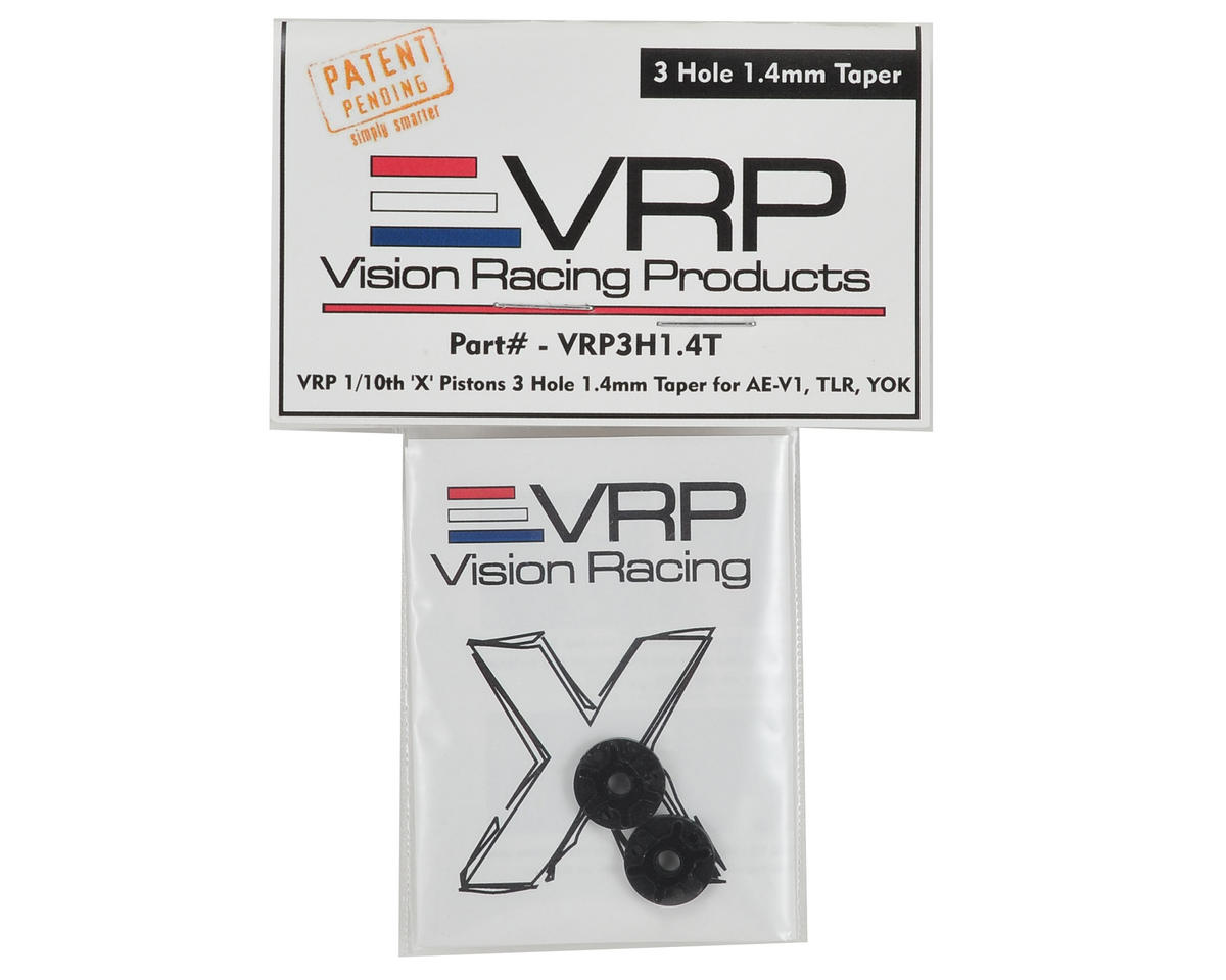 "VRP 12mm AE/TLR/Yokomo 1/10 Tapered ""X V2"" Shock Piston (2) (1.4mm x 3 Hole)"