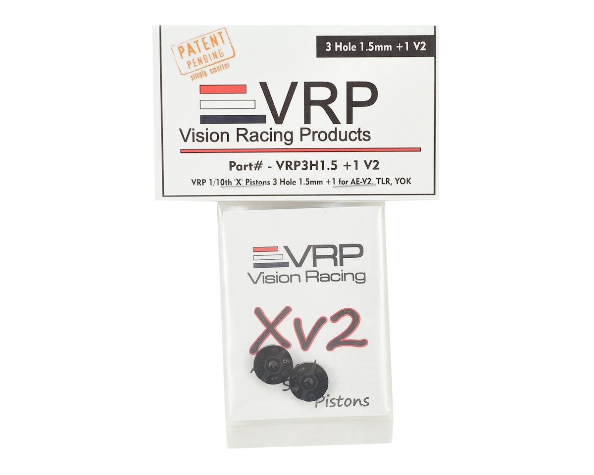 "VRP 12mm AE/TLR/Yokomo 1/10 ""X V2"" Shock Piston (2) (1.5mm +1 x 3 Hole)"