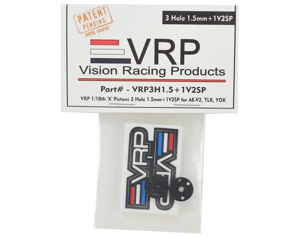 """VRP 12mm Associated V2 1/10 """"SP V2"""" Shock Piston (2) (1.5mm +1 x 3 Hole)"""