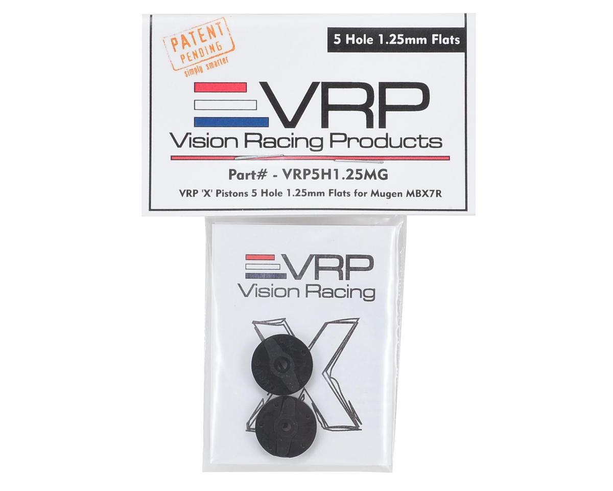 "VRP Mugen 1/8 ""X V2"" Shock Piston (2) (1.25mm x 5 Hole)"