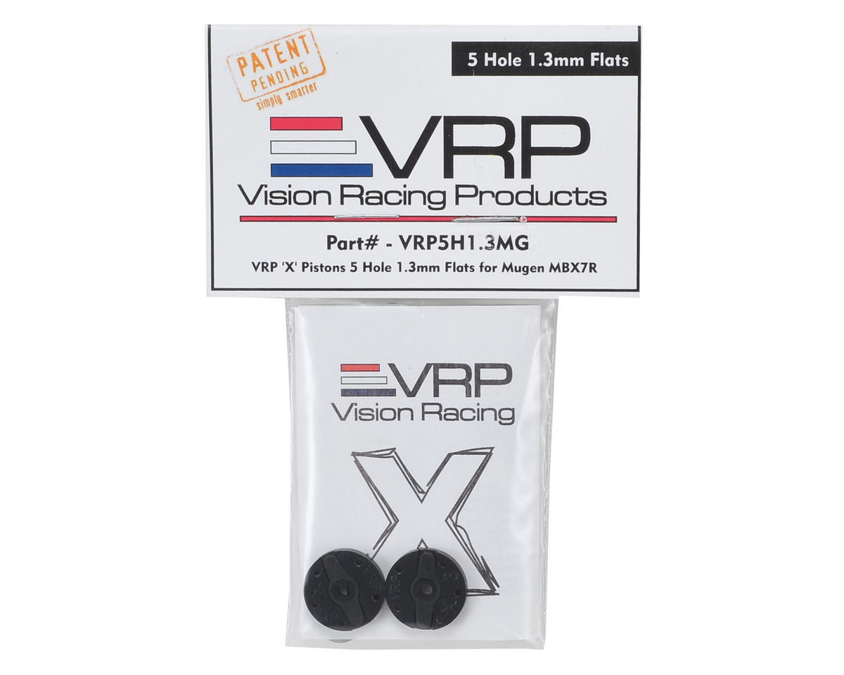 "VRP Mugen 1/8 ""X V2"" Shock Piston (2) (1.3mm x 5 Hole)"
