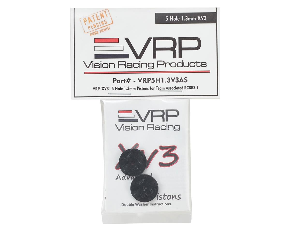 "Associated RC8B3 1/8 ""X V3"" Shock Piston (2) (1.3mm x 5 Hole) by VRP"