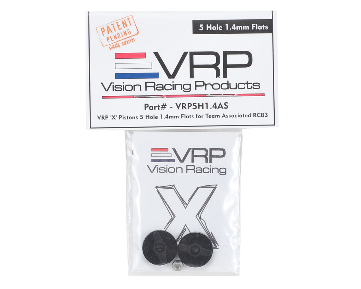 "VRP Associated RC8B3 1/8 ""X V2"" Shock Piston (2) (1.4mm x 5 Hole)"