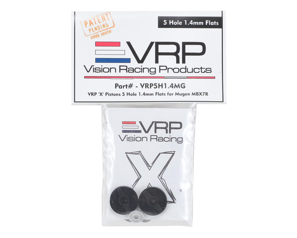 "VRP Mugen 1/8 ""X V2"" Shock Piston (2) (1.4mm x 5 Hole)"