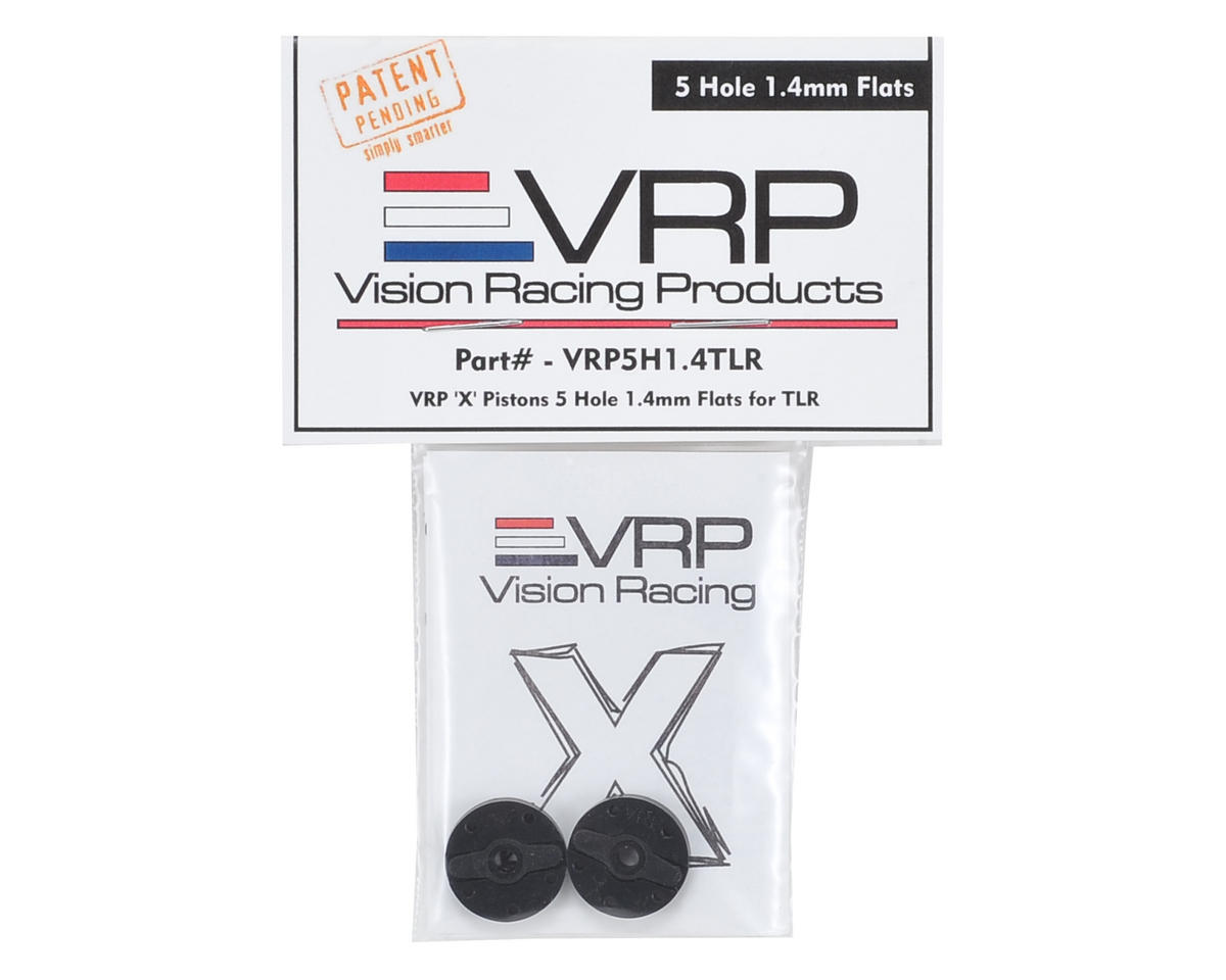 "VRP TLR 8IGHT 1/8 ""X V2"" Shock Piston (2) (1.4mm x 5 Hole)"