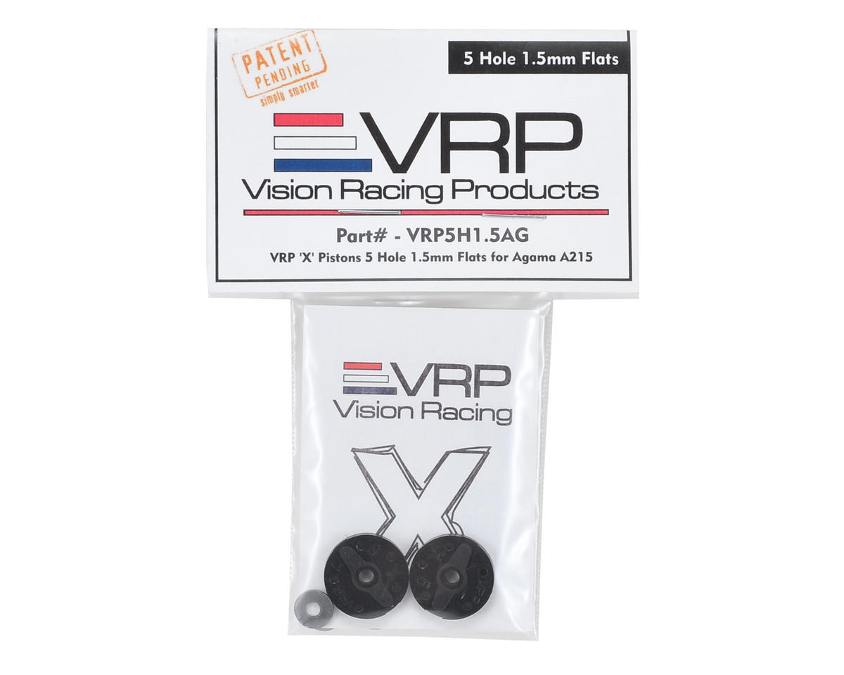 "VRP Agama A215 1/8 ""X V2"" Shock Piston (2) (1.5mm x 5 Hole)"
