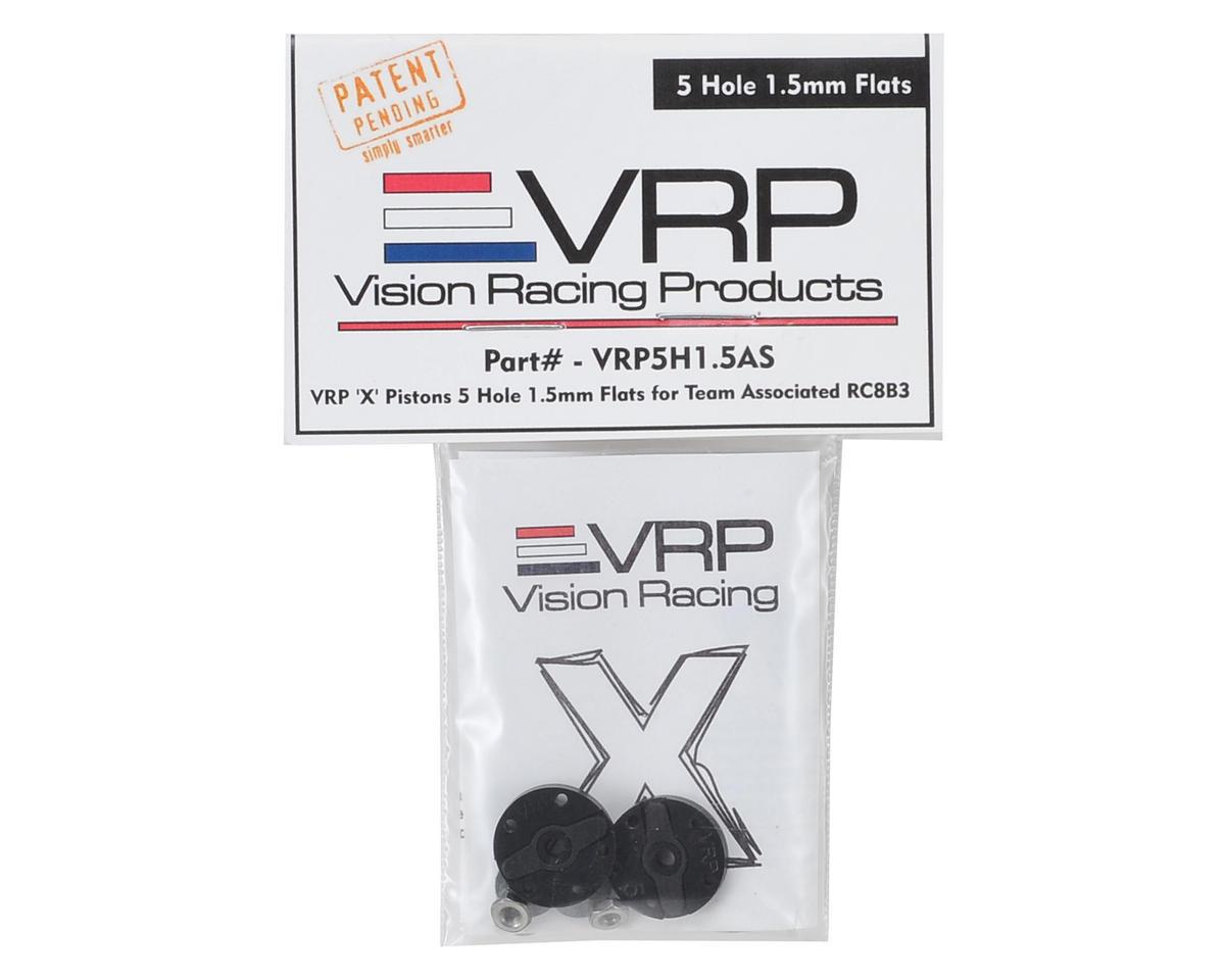 "VRP Associated RC8B3 1/8 ""X V2"" Shock Piston (2) (1.5mm x 5 Hole)"