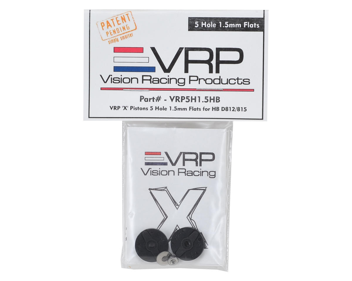 "VRP Hot Bodies D8 1/8 ""X V2"" Shock Piston (2) (1.5mm x 5 Hole)"