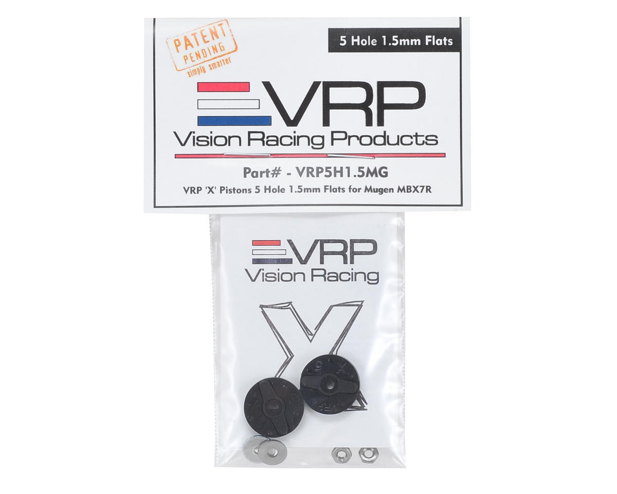 "VRP Mugen 1/8 ""X V2"" Shock Piston (2) (1.5mm x 5 Hole)"