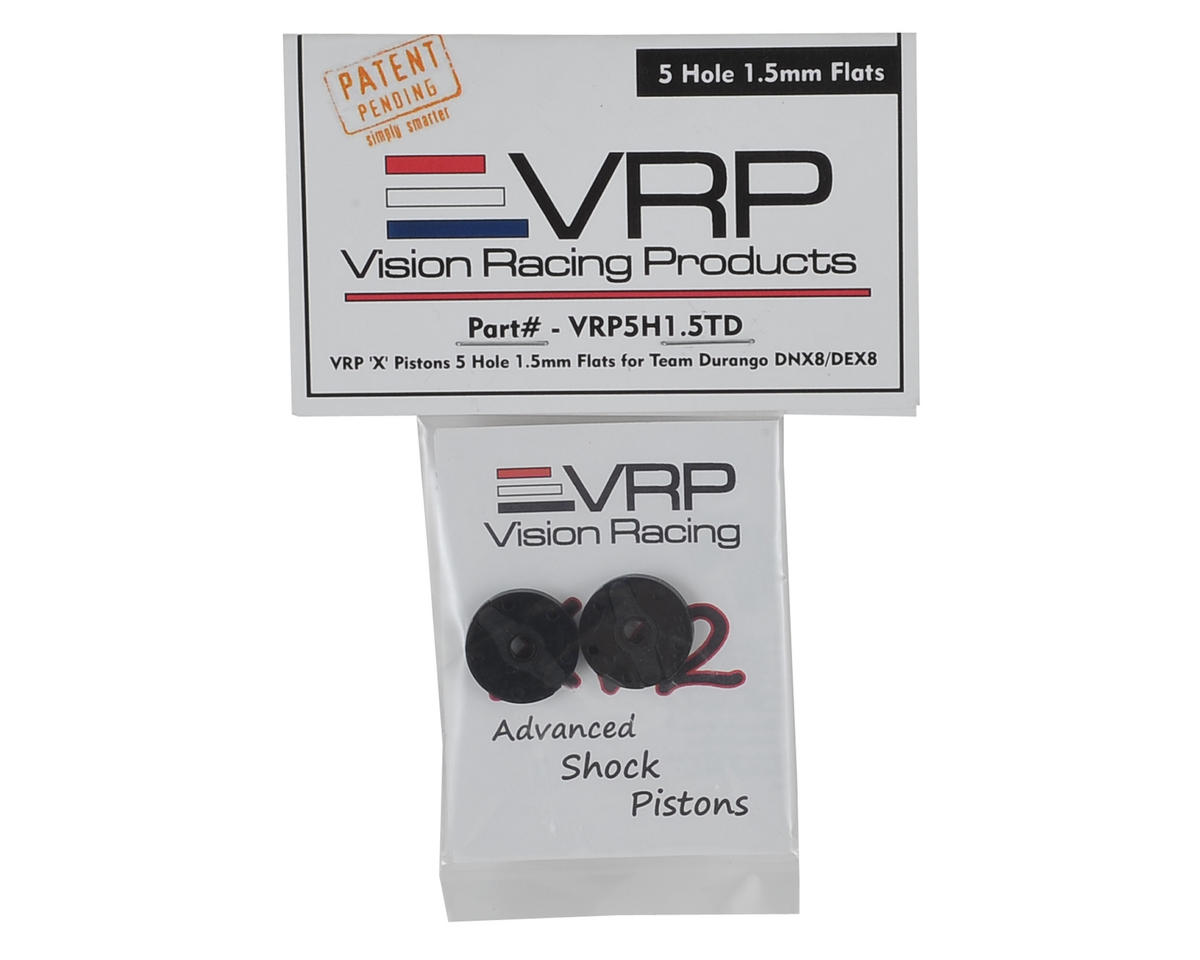 "VRP DNX8/DEX8 1/8 ""X V2"" Shock Piston (2) (1.5mm x 5 Hole)"