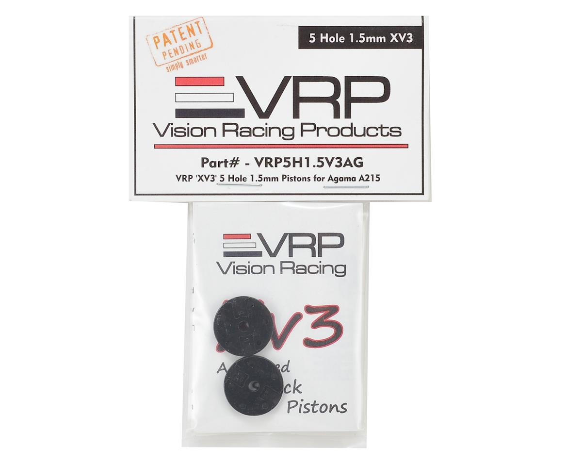 "Agama A215 1/8 ""X V3"" Shock Piston (2) (1.5mm x 5 Hole) by VRP"