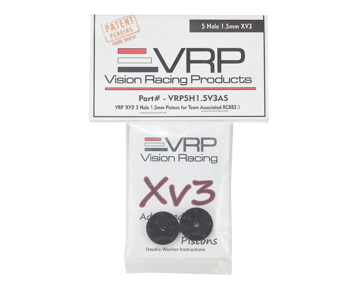 "VRP Associated RC8B3 1/8 ""X V3"" Shock Piston (2) (1.5mm x 5 Hole)"