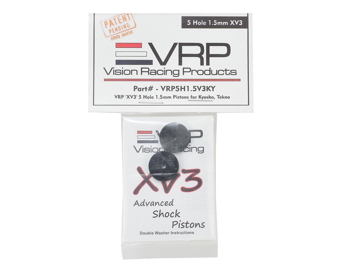 """VRP Kyosho/XRAY/Tekno 1/8 """"X V3"""" Shock Piston (2) (1.5mm x 5 Hole)"""