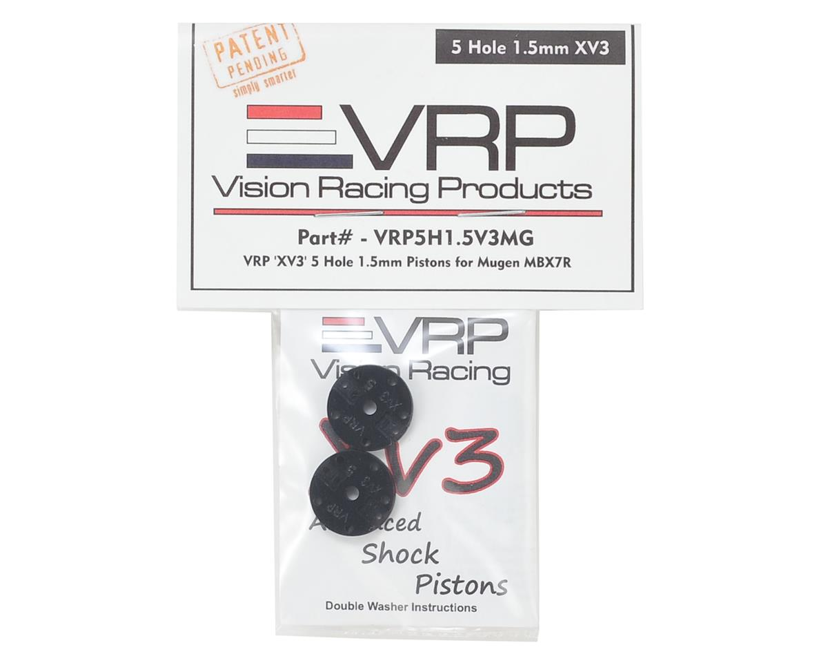 "VRP Mugen 1/8 ""X V3"" Shock Piston (2) (1.5mm x 5 Hole)"