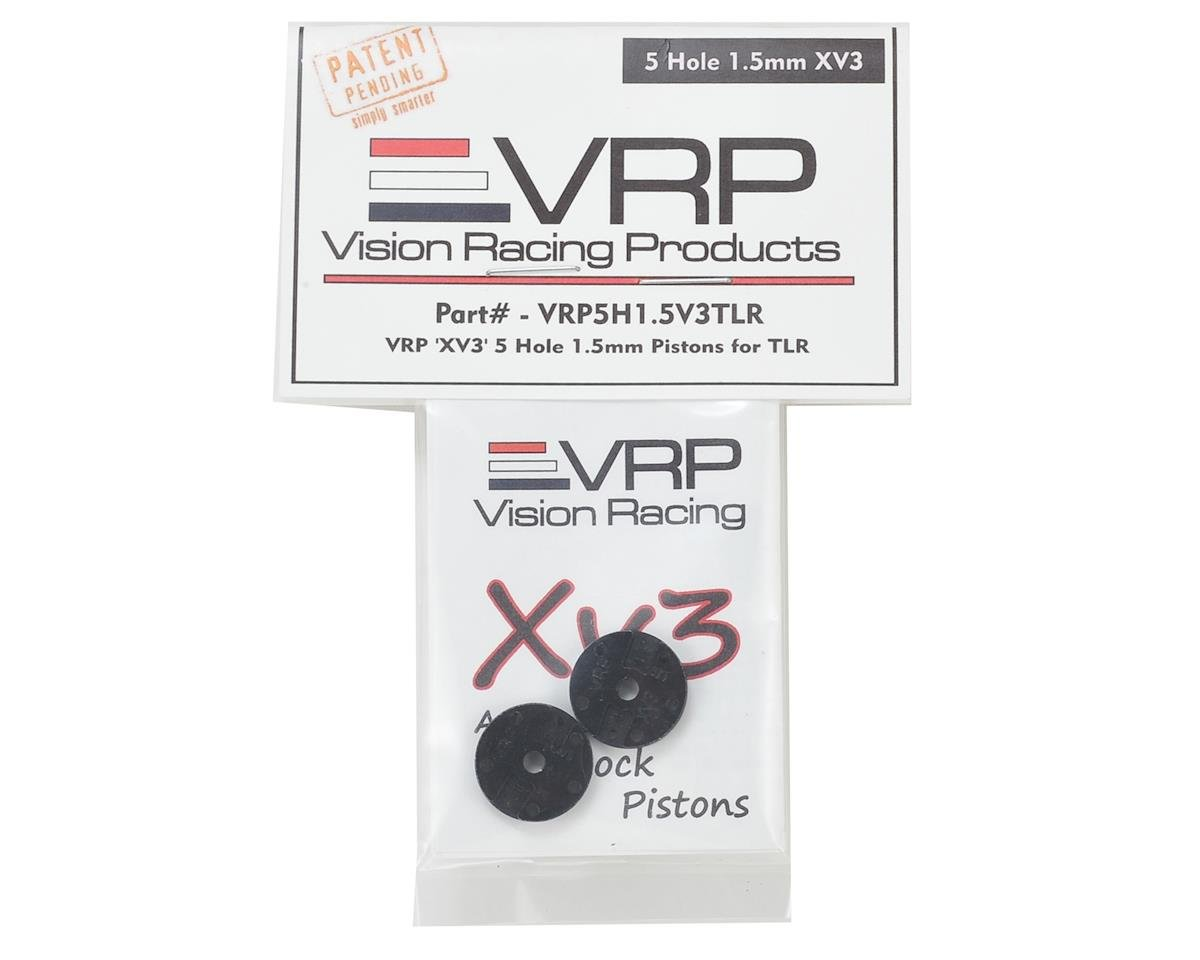 "TLR 8IGHT 1/8 ""X V3"" Shock Piston (2) (1.5mm x 5 Hole) by VRP"