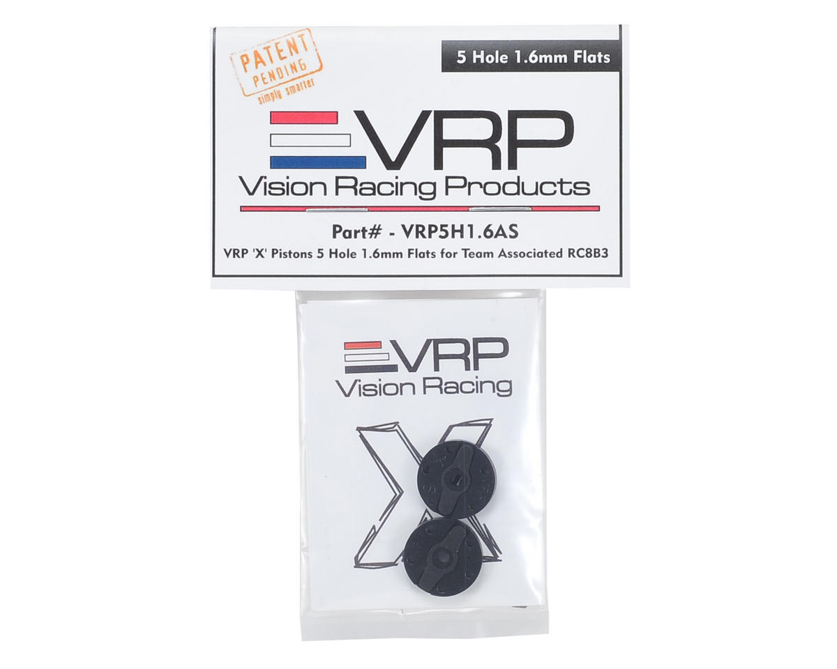 "VRP Associated RC8B3 1/8 ""X V2"" Shock Piston (2) (1.6mm x 5 Hole)"