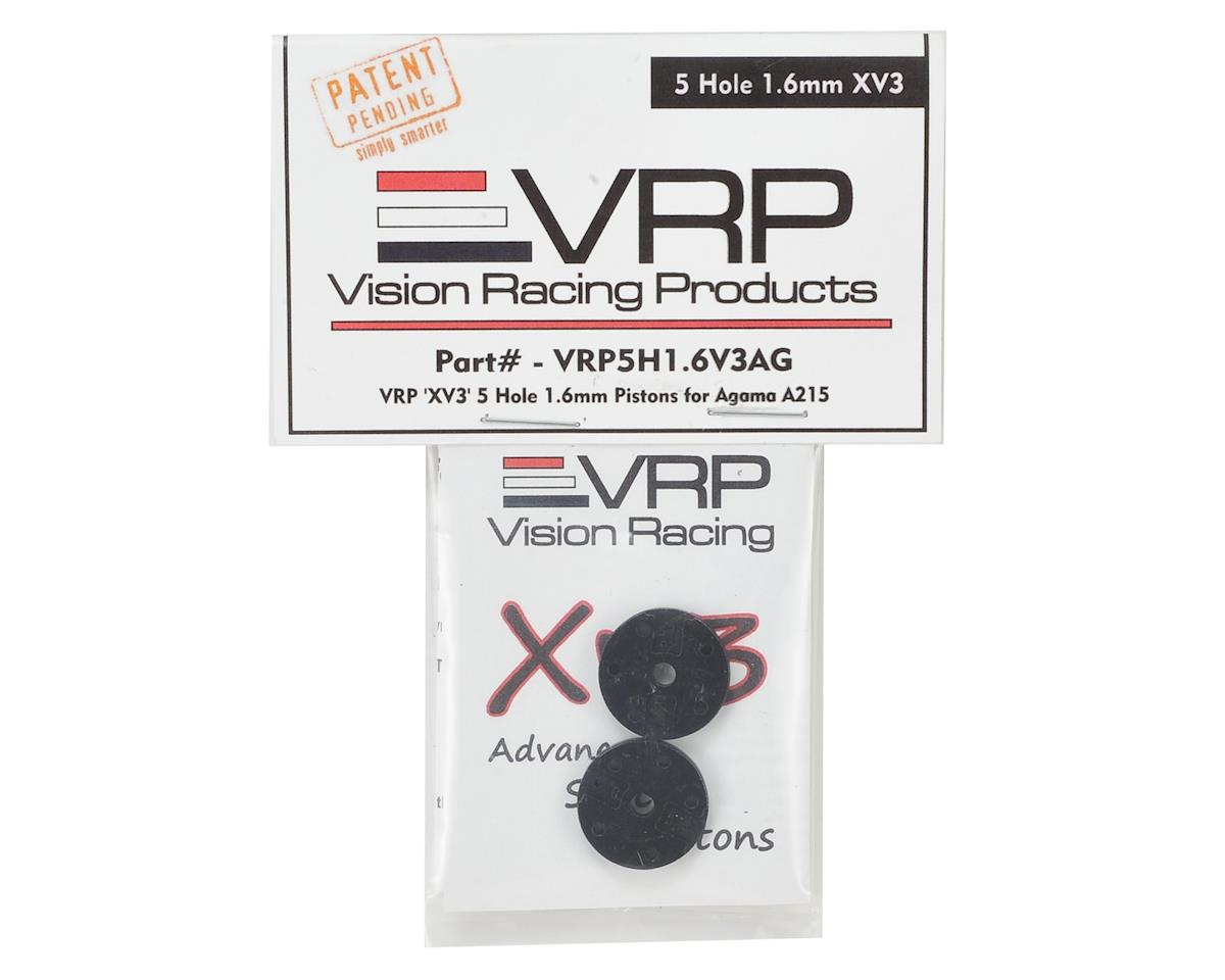 "VRP Agama A215 1/8 ""X V3"" Shock Piston (2) (1.6mm x 5 Hole)"