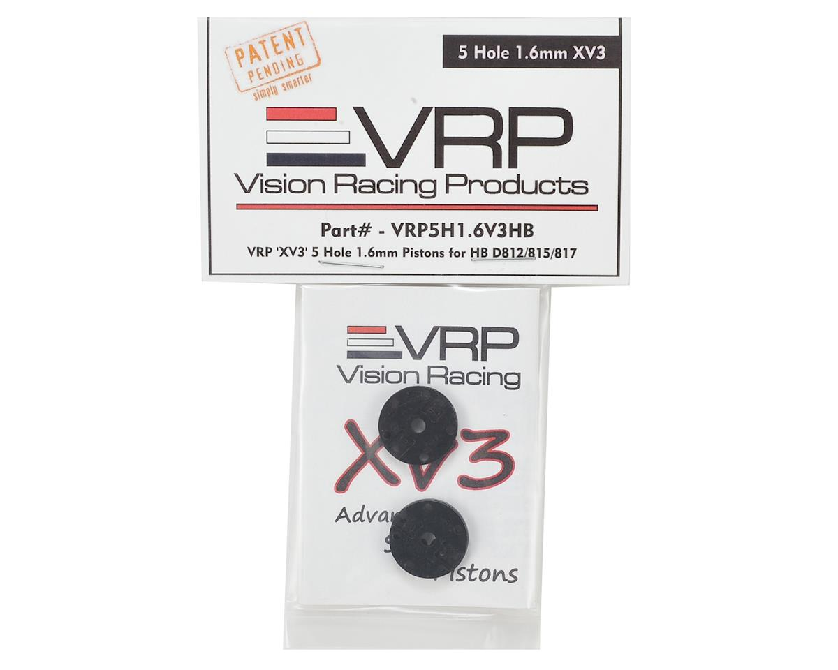 "VRP Hot Bodies D8 1/8 ""X V3"" Shock Piston (2) (1.6mm x 5 Hole)"