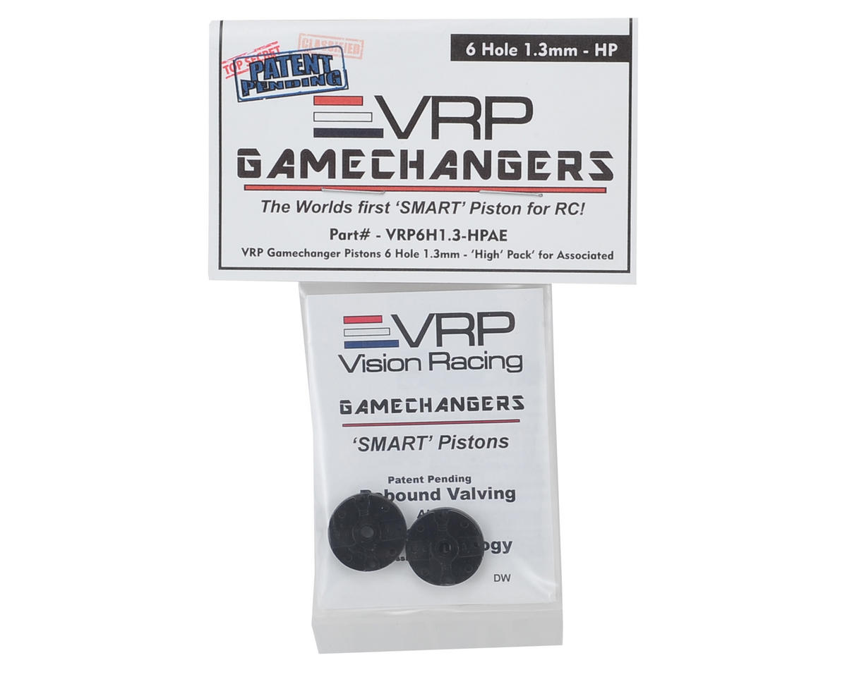 "RC8B3 1/8 ""Gamechanger"" Piston (2) (1.3mm x 6 Hole) (High Pack) by VRP"