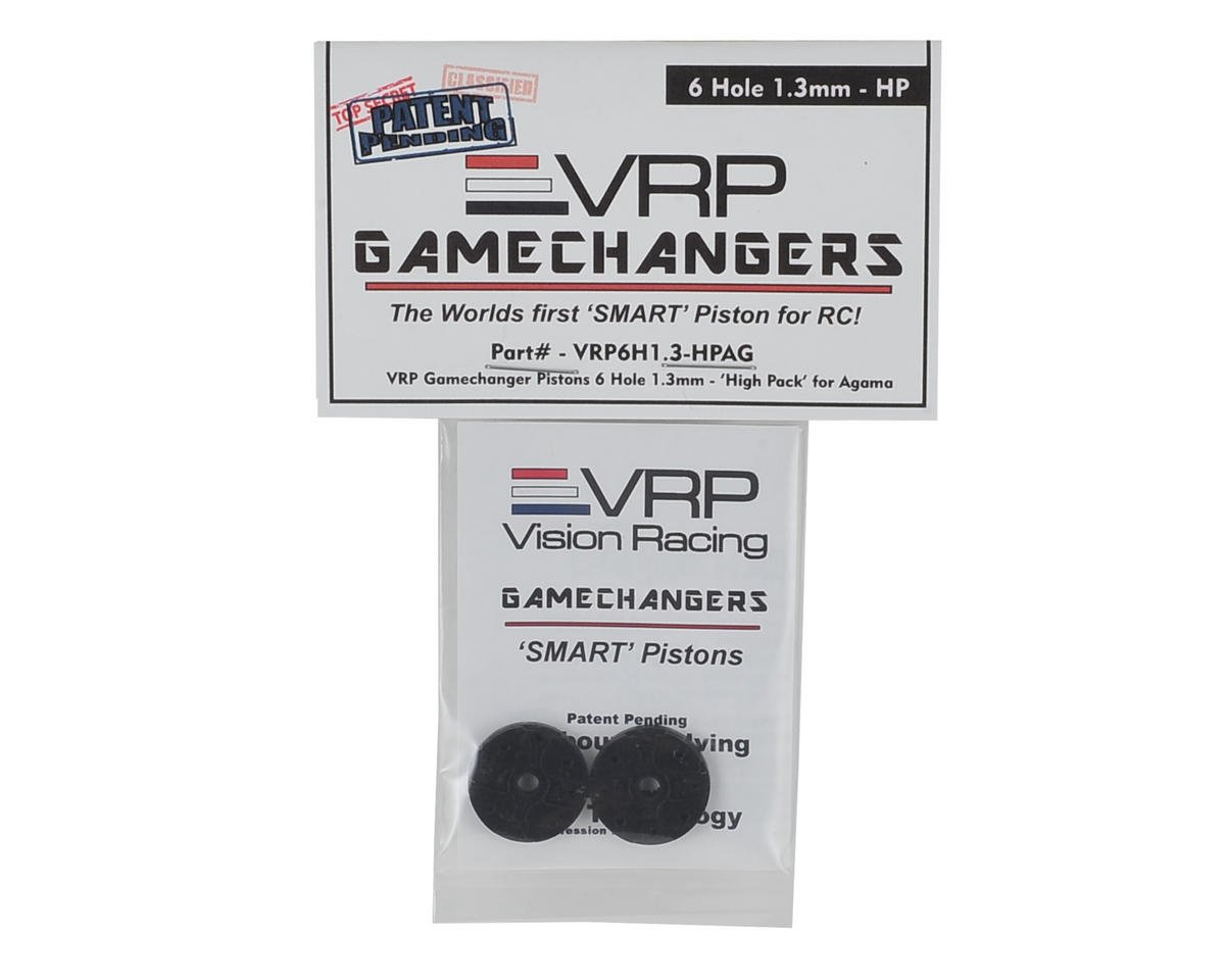 "VRP A215 1/8 ""Gamechanger"" Piston (2) (1.3mm x 6 Hole) (High Pack)"
