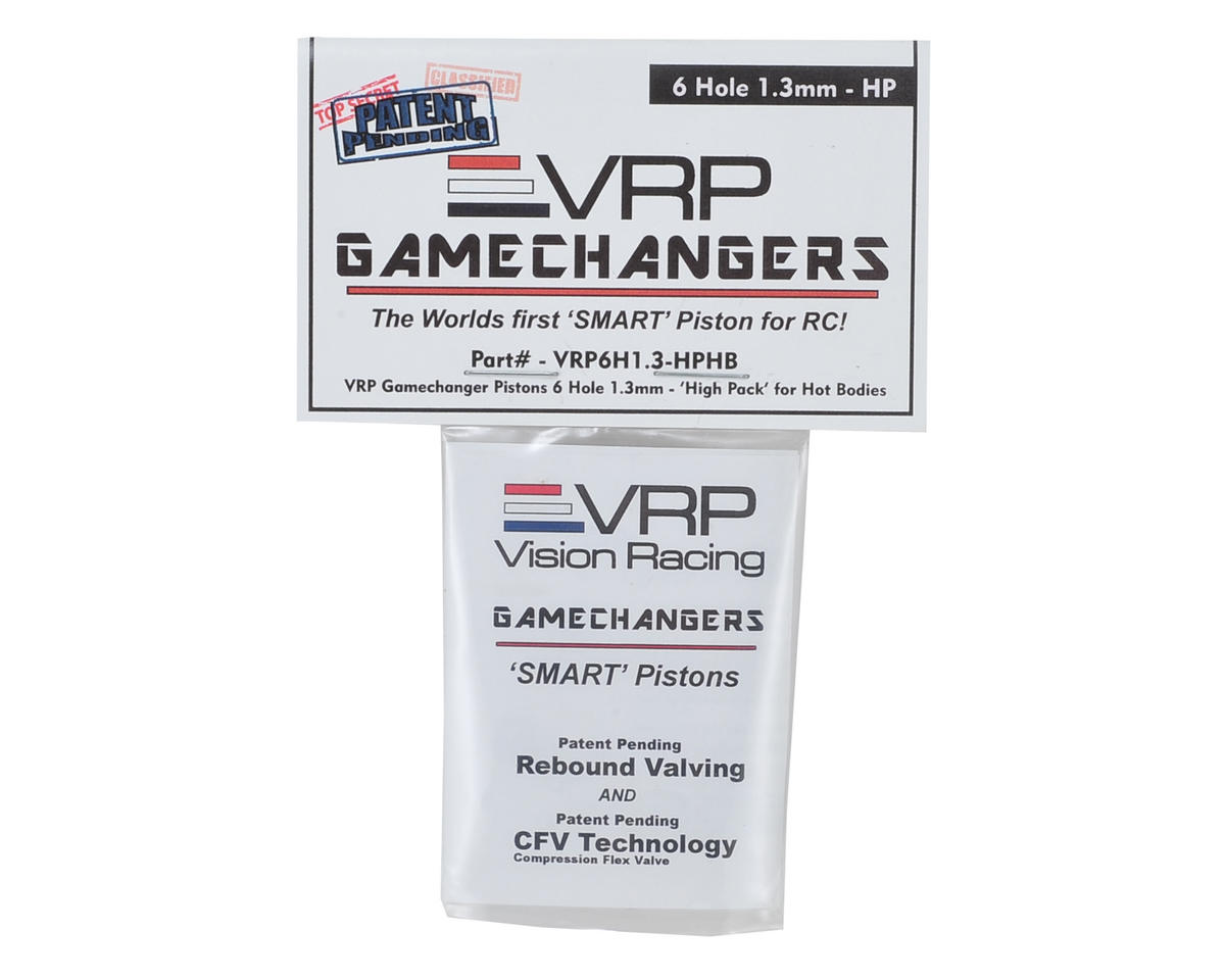 "VRP D815 1/8 ""Gamechanger"" Piston (2) (1.3mm x 6 Hole) (High Pack)"