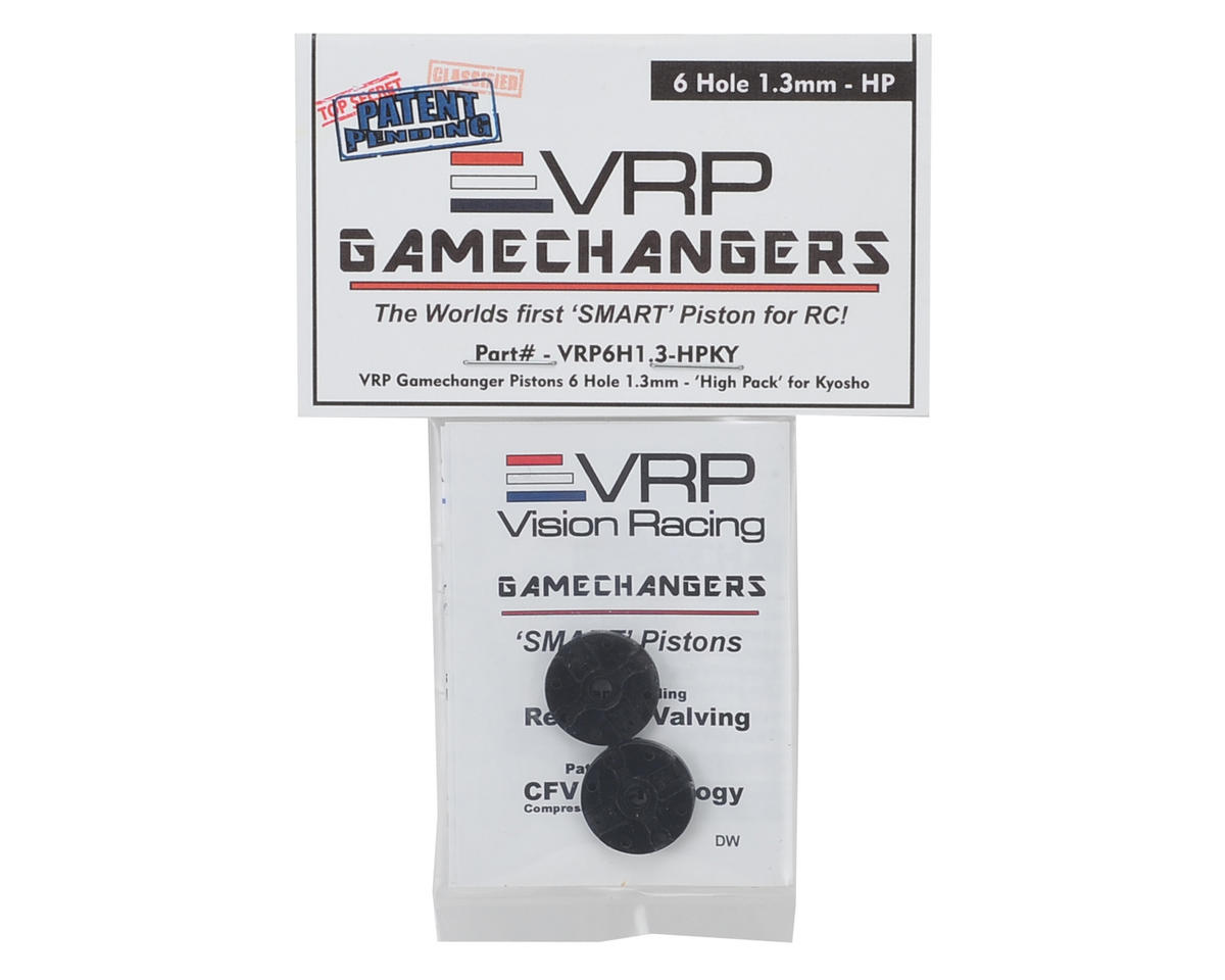 """KYO/XRAY/Tekno 1/8 """"Gamechanger"""" Piston (2) (1.3mm x 6 Hole) (High Pack) by VRP"""