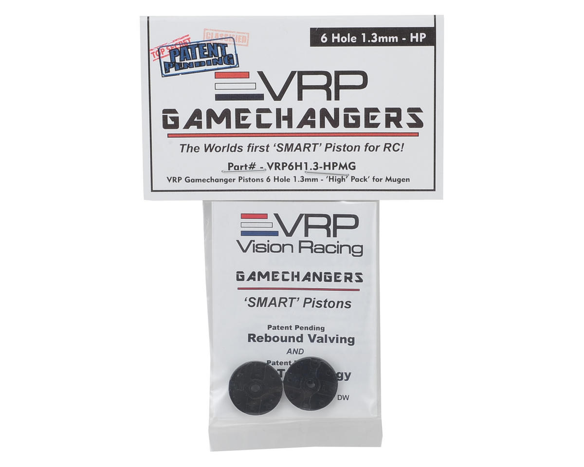 "VRP Mugen 1/8 ""Gamechanger"" Piston (2) (1.3mm x 6 Hole) (High Pack)"