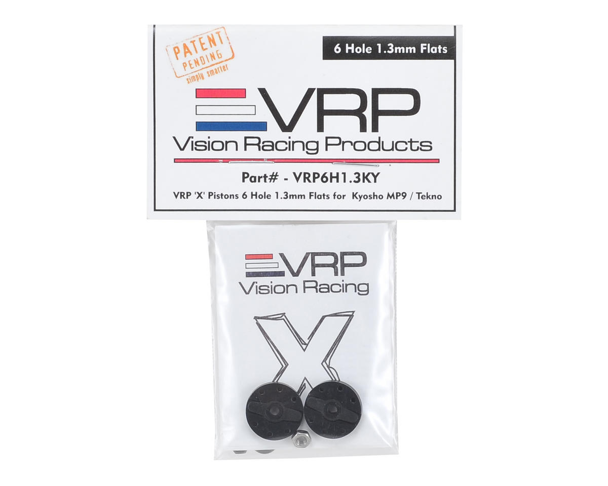 "VRP Kyosho/XRAY/Tekno 1/8 ""X V2"" Shock Piston (2) (1.3mm x 6 Hole)"