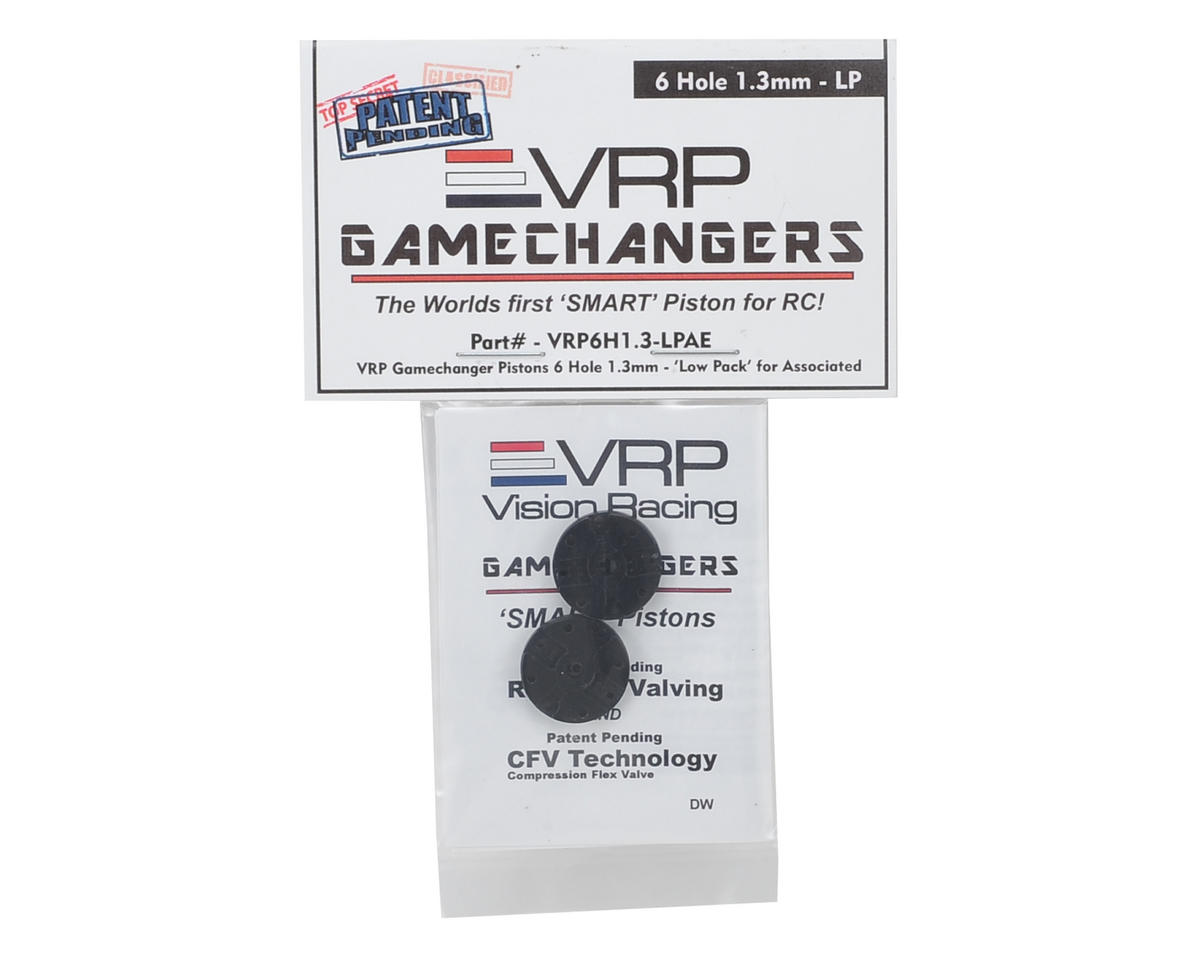 "VRP RC8B3 1/8 ""Gamechanger"" Piston (2) (1.3mm x 6 Hole) (Low Pack)"